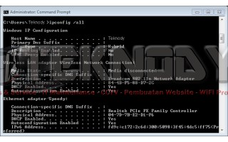 Mengganti IP Lewat Command Prompt