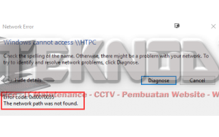 Mengatasi Error 0x80070035 The Network Path Was Not Found