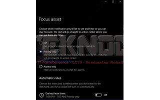 Mengaktifkan Focus Assist Pada Windows 10