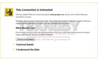 Connection Untrusted Ketika Browsing Di Browser