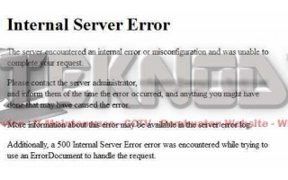 Perbaiki Internal Server Error di Wordpress