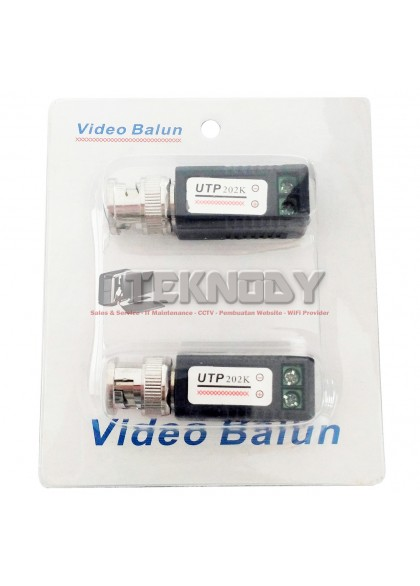 NV-202K CCTV Twisted-pair Passive Video Transceiver BNC Video Balun to UTP