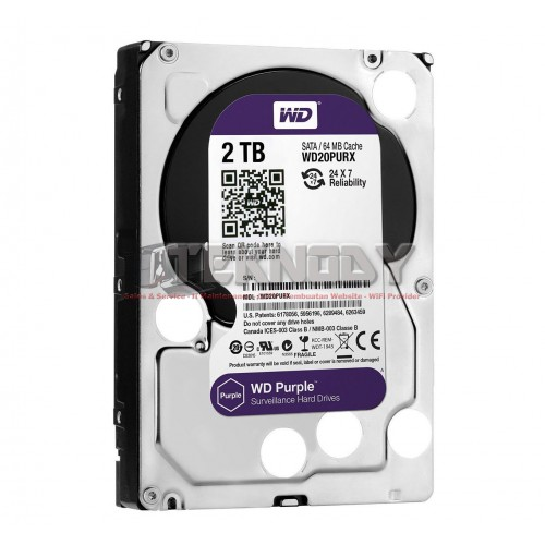 WDC Purple 2TB for CCTV 24 Hours WD20PURX - 3.5 Inch